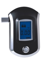 3 pieces LCD Display Digital Alcohol Breath Tester Breathalyzer (Black) AT6000 Breath Alcohol Tester