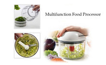 Food Processor Multifunction Vegetable Cutter Grater Slice Blend Chop SPIN DRY Mix Store Kitchen Helper k022(China)
