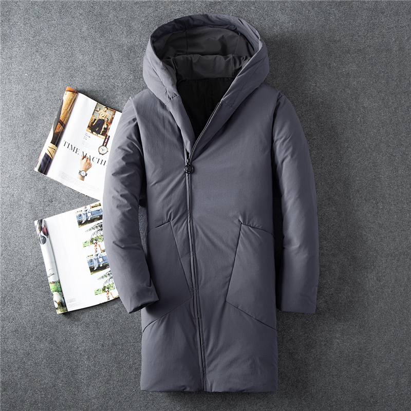 Hot 2018 New Thick Winter Down Jacket Men Warm Brand Clothing Quality Long Male White Duck Down Coat Down Parkas Men