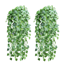 5 piece like real artificial Apple leaf garland faux vine Ivy Indoor outdoor home decor wedding flowers Plant green leaves Vine(China)