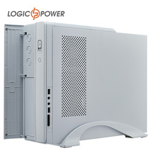 LOGIC POWER desktop Pure white  Slim computer  case New Arrivals 80mm FAN, CD-ROMx1, HDDx1, PCIx4, USBx2, AUDIO In/Out #2226