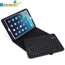 Binmer Mecall Bluetooth Wireless Detachable Keyboard Folding Leather Case Cover For iPad 5 Air
