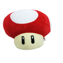 2017 Free Shipping Super Mario Mushroom Plush Toys Red Mushroom Plush Dolls 20cm Toad Plush Toy Dolls(China)