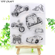 YPP CRAFT Cars Transparent Clear Silicone Stamps for DIY Scrapbooking/Card Making/Kids Crafts Fun Decoration Supplies
