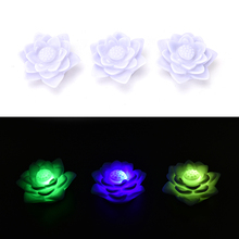 7 Colors Romantic Changing Flower Lotus LED Night Light Love Mood Decoration Lamp(China)