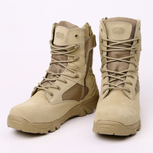 Army Desert Hiking Boots Desert Tactical Military Boots Combat Boots Army Boots Men Shoes Work Outdoor Climbing Men Botas(China)