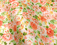 ZY DIY Romantic All-over Orange Flowers Printed Cotton Fabric, 50x160cm, Bedding Clothing Quilting Bedding DIY fabric Sewing(China)