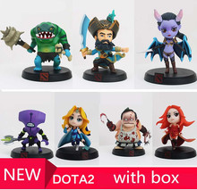Retail 1pcs DOTA 2 Figure heros Kunkka Lina Pudge Queen Tidehunter CM FV PVC Action Figures Collection dota2 Toys best gift