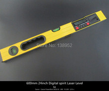 600mm 24inch Digital spirit Laser Level 0-600mm LCD display digital level with Laser Beam and magnet base(China)