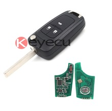 2PCS/LOT Folding Remote Key Fob 3 Button 315MHz ID46 Chip Chevrolet Cruze Uncut Blade