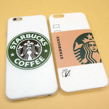 2016 Fashion Starbuck Coffee Cup Logo Phone Case Cover For iPhonen 6Plus 5.5 6 4.7 S 5S 5C SE 4 4S Samsung Galaxy