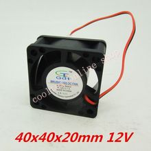 10pcs/lot  40x40x20mm  4020 fans 12 Volt  Brushless DC Fans  cooling  radiator  Free Shipping