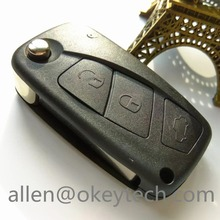 Remote Key Shell For Fiat Stilo Panda Idea Doblo Bravo Keyless Fob Case 3 Buttons Car Alarm With The Logo For Fiat