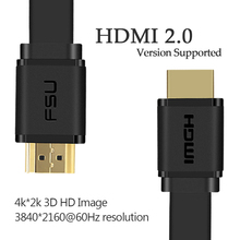 High Quality HDMI Cable Flat Iine HD Iine 2.0version 3D Computer connected TV 4K 0.5M 1M 1.5M 2M 3M(China)
