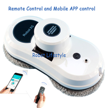 Mobile APP control Intelligent Automatic Robotic Window Vacuum Cleaner Window Clean Robert robot vacuum cleaner Free shipping