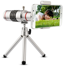 Original Universal 18X Mobile Phone Lens 18x Zoom Camera Practical Optical Telescope Magnifier Tripod for Samsung For iPhone 6 7