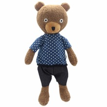 JESONN Stuffed Animals Bear Soft Toys Teddy Bear Plush Dressed Dolls for Baby and Kid's Birthday Gifts 23 CM(China)