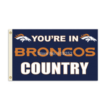 Denver Broncos Country Flag 3x5 FT Banner 100D Polyester NFL flag 115, free shipping(China)