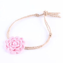 Pink Girls Headband Crochet Flower Headband Tieback headband Photo Prop  Headband Girls Hair Accessories