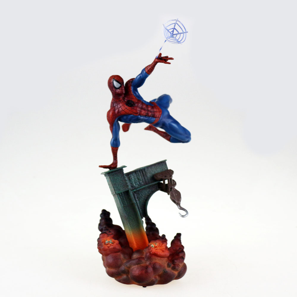 The Amazing Spider-Man Lights Spiderman Figure 23cm/9 No Box Free Shipping<br>