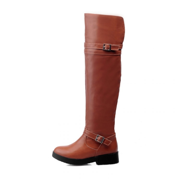 2015 shoes Women Boots flat Over the Knee Boots winter boots Soft leather Motorcycle Riding boots Botas zapatos mujer 3colors<br><br>Aliexpress
