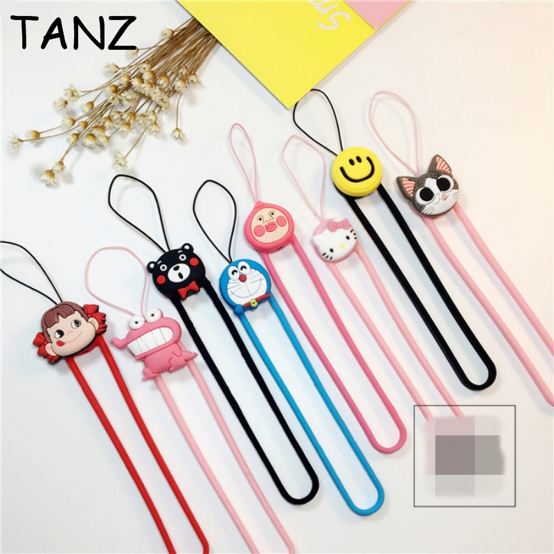 Cute Cartoon Silicone wrist hand cell phone mobile chain straps keychain Charm Cords DIY Hang Rope Lariat Lanyard(China (Mainland))