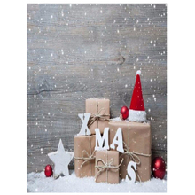 3x5FT Vinyl Photography Backdrop Wall Photo Background Christmas hat(China)