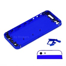 New Repair Parts for iPhone 5 Dark Blue&Black Mid frame Bezel Chassis Back Cover Housing Replacement Battery Door Free Shipping