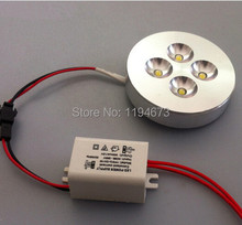 1pcs free shipping 4x1w led puck light for cabinet warm white/cool white led down light AC85-265V(China)