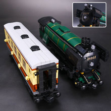 LEPIN 21005 Series the Emerald Night model building blocks set Classic compatible Steam trains Toys Christmas Educational Gift