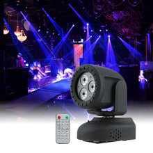15W Sound Activation AUTO Run IR RGB LED Stage Lamp Projector Disco Stage Effect Light Indoor KTV Party Club Disco Pub Bar Show(China)