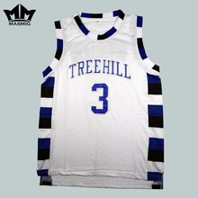 MM MASMIG [New Version] One Tree Hill Lucas Scott 3 Ravens Basketball Jersey White S-3XL(China)
