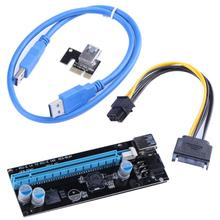 Buy 15Pin-6Pin PCIE PCI-E Express 1X 16X Riser Card Extender 60cm USB3.0 Cable Mining Bitcoin Miner Easy install for $4.62 in AliExpress store