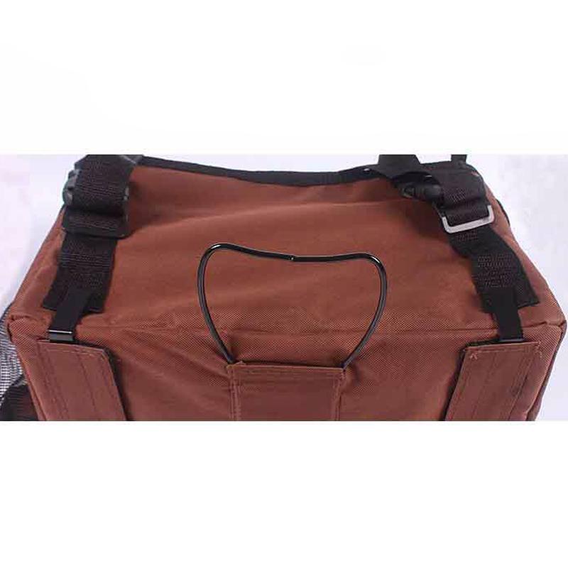 Pet dog bicycle carrier bag2