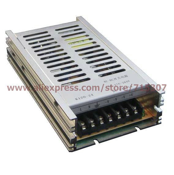 Leetone K120-24 120W switching power supply 24V 5A high efficiency 176-264VAC input with OVP &amp; OTP for 3 years warranty<br>