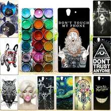 Cool Design Soft TPU Case Sony Xperia L36h Silicone Back Cover Z L36H C6603 C6602 Phone Cases - RIVAS Official Store store