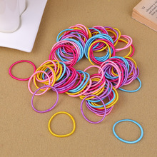 100pcs/lot Hair Bands Ponytail Holder Rubber Bands Hair Elastic Accessories Girls Women Multicolor Tie Gum 2017 Hot Sale