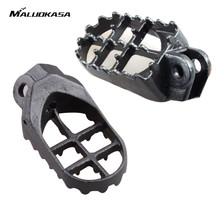 MALUOKASA Motocross Wide Fat Foot Pegs Footrest For Kawasaki KLX 400 KX500 Suzuki DRZ400 RM125 RM250 RMX250 DR-Z 400E 400S(China)