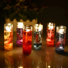 Romantic Glass Bottles Ocean Theme Smokeless Jelly Wax Wedding Gel Candles(China)
