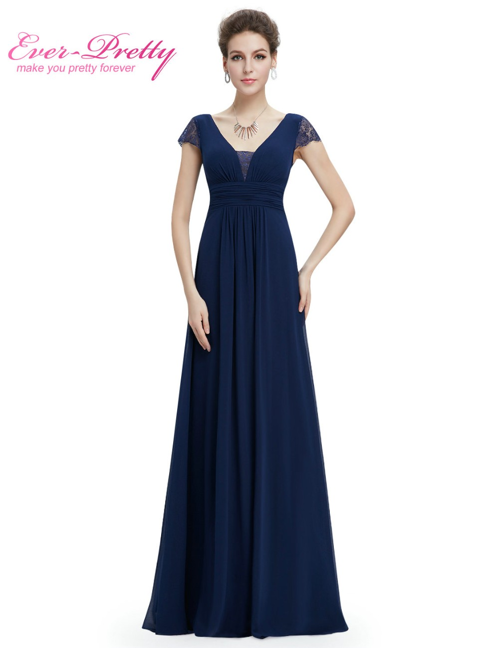 Short Sleeves Mother Of The Bride Dress Women Low stretch Long Navy Blue Mother of the Bride Dresses 2018