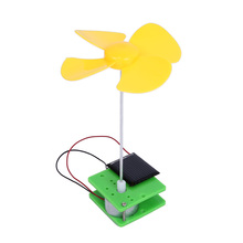 Kids Solar Toys Rotating Fan Electric Energy Generation Experiments Toy DIY Assembling Education Science Toy Gift  for Children