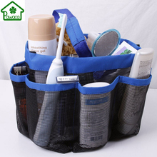 1Pcs Portable Quick Dry Mesh Shower Bath Bag Tote Caddy Cosmetics Organizer Outdoor Travel Swimming Beach Use Storage Bags