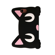 2017 Japan fashion cartoon animals big face luna cat pet moon doll chain bag cell phones soft silicone case For Iphone