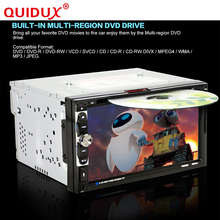 QUIDUX 6065B 6.95'' Touchscreen Double 2DIN Bluetooth Car Radio Head Unit Stereo DVD CD MP3 MP4 Multimedia Player 800 X 480(China)