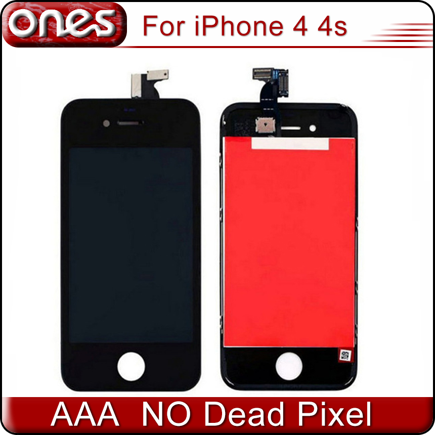 AAA Quality Black/White 4 LCD for iPhone 4S 4G touch screen digitizer with frame Assembly 100% tested Front Screen Replacement<br><br>Aliexpress