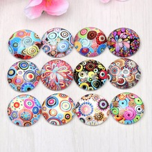 Buy Onwear mixed swirl circle photo round glass cabochon 10mm 12mm 14mm 18mm 20mm 25mm diy pendant jewelry making findings for $4.14 in AliExpress store