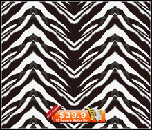 Free Shipping! NO.HFJ0167,Width 50cm*20m, hydro dipping black & white zebra skin hydrographics Water Transfer Printing Film