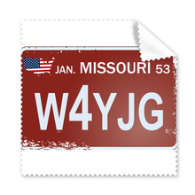 USA American Car Licence Plate Number Missouri  Illustration Pattern Glasses Cloth Cleaning Cloth Phone Screen Cleaner 5pcs