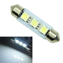 Hot 41mm 3 SMD 5050 LED Pure White Car Interior good Light Lamp Bulb Drop shipping