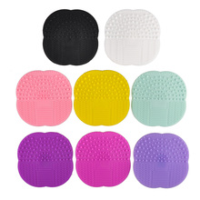1pcs Silicone Clean Cosmetic Make Up Washing Brush Gel Cleaner Scrubber Tool Foundation Makeup Brush Clean Cleaning Mat Pad Tool(China)